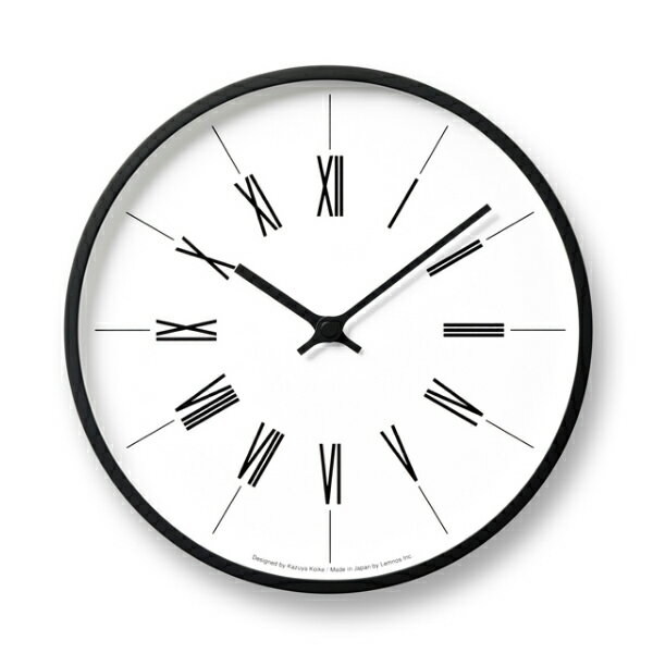 Lemnos(レムノス)/ 時計台の時計Roman[KK13-16B]電波時計サイズ:φ254×D45mm 重量:610g材質:プライウッド、ガラス