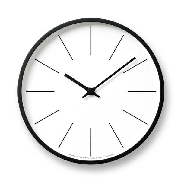 Lemnos(レムノス)/ 時計台の時計Line[KK13-16C]電波時計サイズ:φ254×D45mm 重量:610g材質:プライウッド、ガラス