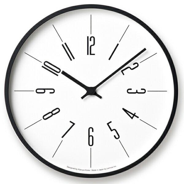 【即納可】【送料無料】Lemnos(レムノス)/ 時計台の時計Arabic[KK17-13A]電波時計サイズ:φ305×D48mm 重量:780g材質:プライウッド、ガラス