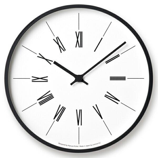 【即納可】【送料無料】Lemnos(レムノス)/ 時計台の時計Roman[KK17-13B]電波時計サイズ:φ305×D48mm 重量:780g材質:プライウッド、ガラス