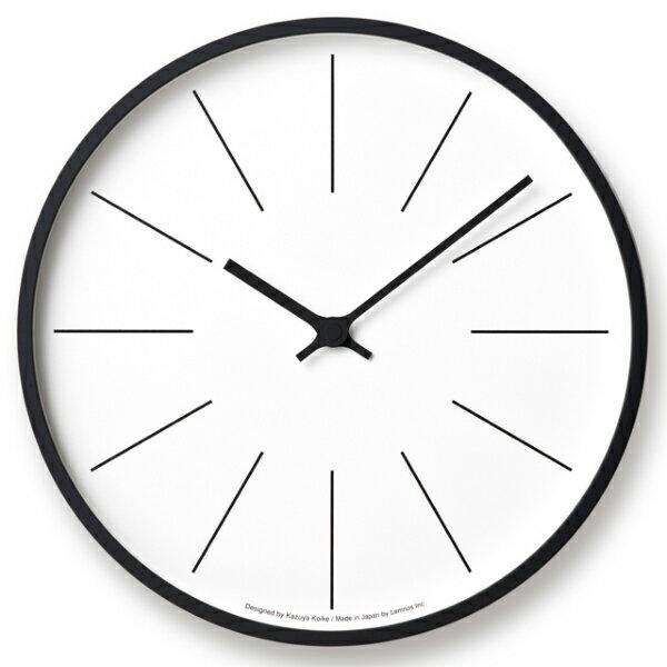 【即納可】【送料無料】Lemnos(レムノス)/ 時計台の時計Line[KK17-13C]電波時計サイズ:φ305×D48mm 重量:780g材質:プライウッド、ガラス
