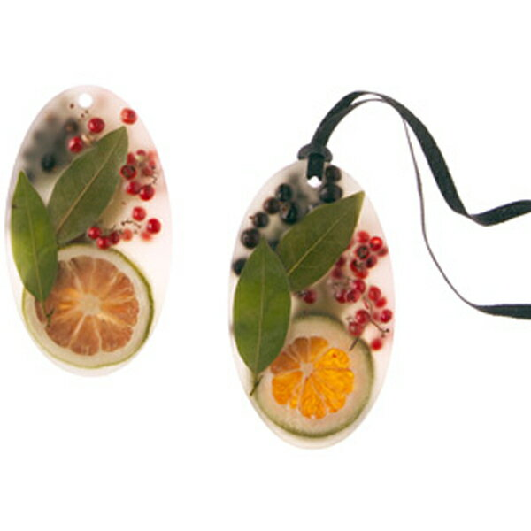 ROSY RINGS / Botanical ワックスサシェベイガーランド(オーバル・2個セット)専用BOX入り 箱サイズ:13×13cm