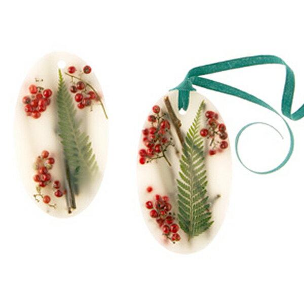 ROSY RINGS / Botanical ワックスサシェレッドカラント&クランベリー(オーバル・2個セット)専用BOX入り 箱サイズ:13×13cm