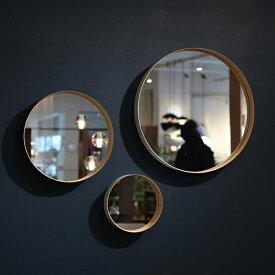 TEORI / ミラー ZERO (M)サイズM:φ40×D6cmウォールミラー 丸 ラウンド 鏡 壁掛け 洗面 玄関 リビング竹 木製フレーム ディスプレイ シンプル モダン おしゃれ