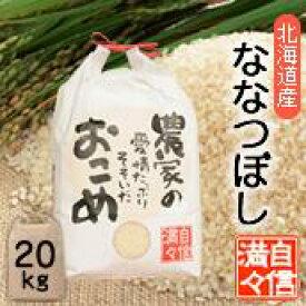 「米」「玄米」「20kg(10kg×2個)」北海道南るもい産【ななつぼし】令和元年産低農薬米「農家の愛情たっぷりそそいだおこめ」/ななつぼし/ナナツボシ/北海道/お米