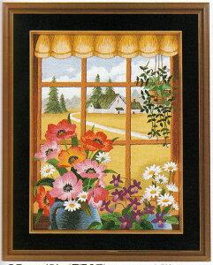 東京文化刺繍キット No174窓辺の花(3号)