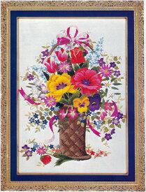 東京文化刺繍キット No297ポピーの花かご(6号)