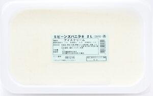 [冷凍] めいらく 業務用アイス ビーンズ入りバニラ Sタイプ 2L
