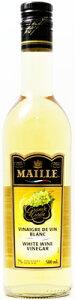 MAILLE マイユ 白ワインビネガー 500ml×6本