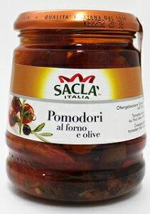 サクラ 南イタリア産プラムトマトのアル・フォルノ&ブラックオリーブ オイル漬け 285g×6本(1ケース)
