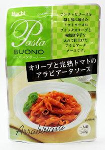 ハチ食品 パスタボーノオリーブと完熟トマトのアラビアータソース 140g×24袋(1ケース)