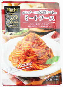 ハチ食品 パスタボーノ ポルチーニと完熟トマトのミートソース 140g×24袋
