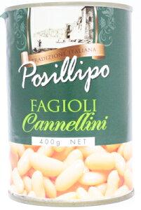 ポジリポ カンネッリーニ 白いんげん豆の水煮缶 400g×24缶(1ケース)