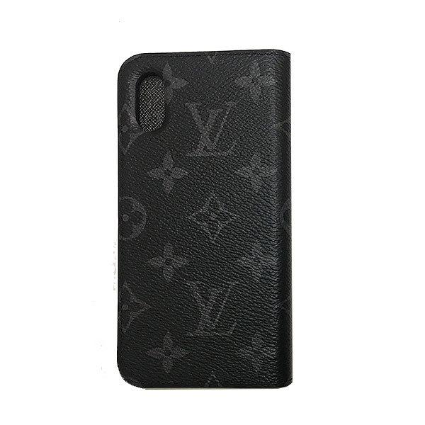 ≪新品≫ルイヴィトン iphone X 10 ・フォリオ モノグラムエクリプス 二つ折り 携帯ケース アクセサリー モバイル M63446 LOUISVUITTON ビトン プレゼントラッピング