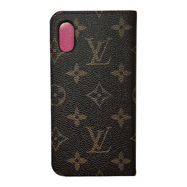 ≪新品≫ルイヴィトン iphone X 10 ・フォリオ モノグラム×ピンク 二つ折り 携帯ケース アクセサリー モバイル M63444 プレゼントラッピング