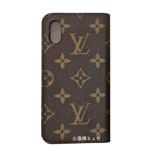 ≪新品≫ルイヴィトン iphone X 10 10S フォリオ モノグラム×マロン 二つ折り スマホ 携帯ケース アクセサリー モバイル M63443 LOUISVUITTON ビトン プレゼントラッピング