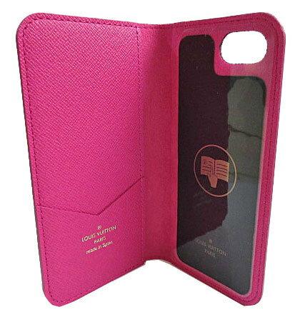≪新品≫ルイヴィトン iphone8・フォリオ(7にも対応) モノグラム×ピンク 二つ折り 携帯ケース アクセサリー モバイル M61906 LOUISVUITTON ビトン プレゼントラッピング