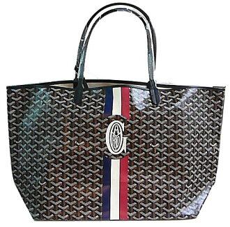 AE [] GOYARD Goyard tote bag special order St. Louis GM Black Black tri color G markergiu mind Shinsaibashi bridge Musée