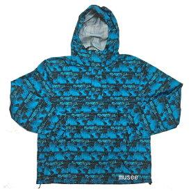 新品 Supreme 18SS World Famous Taped Seam Hooded Pullover Blue S サイズ シュプリーム ワールドフェイマステープドシーム フーデッド プルオーバー ブルー S