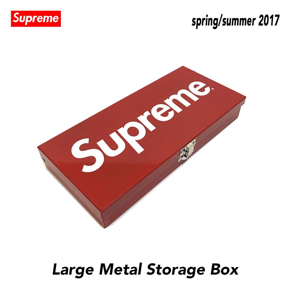 ≪新品≫ 17SS SUPREME シュプリーム Large Metal Strage Box メタルストレージ ボックス