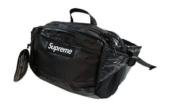 ≪新品≫ Supreme 17FW ウエストバッグ Cordura Waist Bag 黒 シャイニー