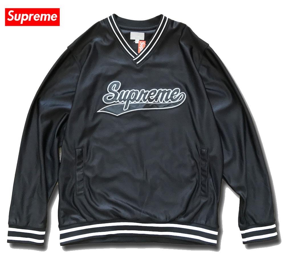 ≪新品≫ Supreme 16FW Baseball Warm Up Top シュプリーム ベースボール シャツ Lサイズ 黒 BLACK
