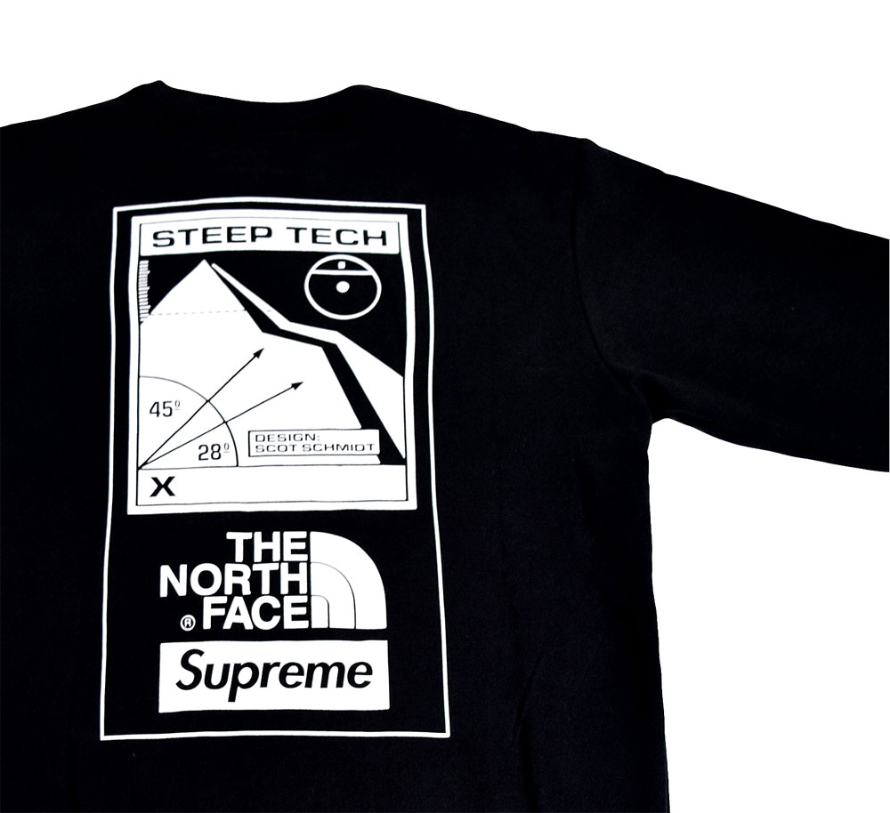 ≪新品≫ 16SS SUPREME / THE NORTH FACE STEEP TECH CREWNECK BLACK Mサイズ クルーネック 黒 TNF コラボ