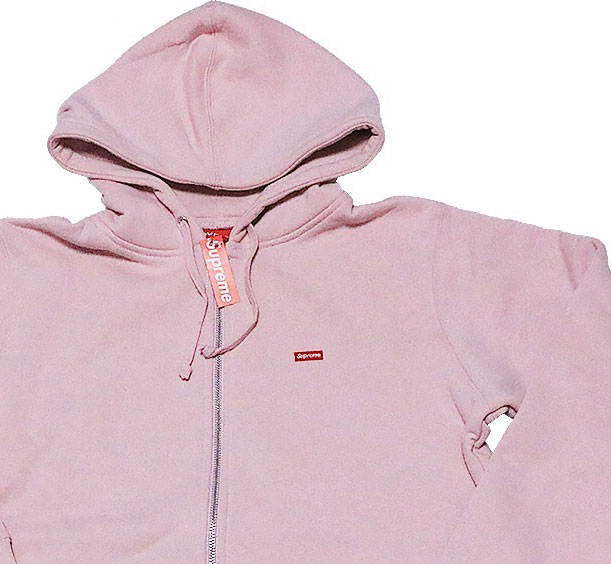 ≪新品≫ SUPREME 17ss Small Box Zip Hooded Sweatshirt Mサイズ パーカー フーディ ピンク