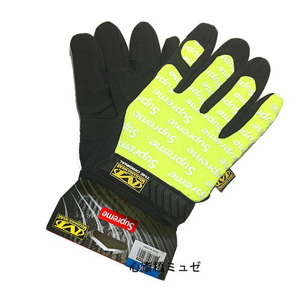 ≪新品≫ 17SS Supreme / Mechanix Wear Original Work Gloves Yellow Msize シュープリーム メカニックスウェア オリジナル ワーク グローブ 黄色 Mサイズ