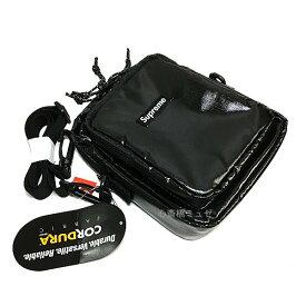 ≪新品≫ 17FW Supreme シュプリーム 100D Cordura Laminated Ripstop Nylon Shoulder Bag Black シュプリーム ショルダーバッグ シャイニー 黒