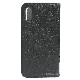 ≪新品≫ルイヴィトン iphone X 10 10S フォリオ モノグラム アンプラント Black 黒 二つ折り スマホ 携帯ケース アクセサリー モバイル M63586 LOUISVUITTON ビトン 手帳型 ケース ヴィトン ブラック アイフォンケース プレゼントラッピング