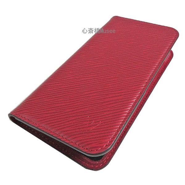 ≪新品≫ルイヴィトン iphone X 10 10S フォリオ モノグラム エピ フューシャ 二つ折り スマホ 携帯ケース アクセサリー モバイル M64468 箱 リボン ラッピング LOUISVUITTON モノグラム