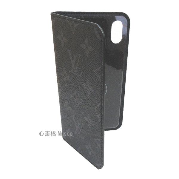 ≪新品≫ルイヴィトン モノグラム フォリオ iPhone XS MAX 10S MAX マックス 二つ折 スマホ 携帯ケース エクリプス 黒 M67484 アクセサリー モバイル 箱 リボン ラッピング LOUISVUITTON アイフォン ビトン