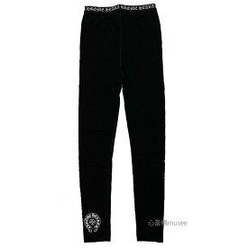 正規品 新品 CHROMEHEARTS クロムハーツ レギンス レディース 黒 Lサイズ BLACK ブラック ロゴ ホースシュー 箱 ショッパー