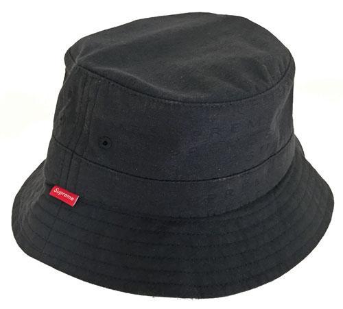 新品 アメリカ購入 Supreme シュプリーム 2015SS 帽子 JACQARD CRUSHER 黒 S/Mサイズ SS15T16
