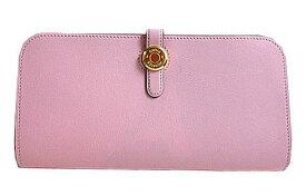 《新品》 エルメス ドゴンロング スイフト ローズサクラ ゴールド金具 T刻印 Wallet Dogon Long Rose Sakura Swift Gold Backle