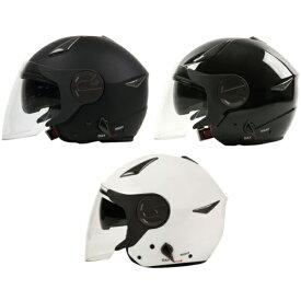 ジェットヘルメット ダブルシールド装備(全3色) ヘルメット バイク