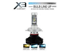 トヨタ カローラ レビン フィールダー ランクス アクシオ ヘッドライト用 H4 LEDバルブ X3正規品 3000K 6500K 8000K切替可能 警告灯キャンセラー内臓(SOLオリジナル)