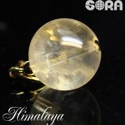 チャーム金運祈願AAAAAゴールデンヒマラヤ水晶(ヒマラヤ金水晶)ガネーシュヒマール産12mmパワーストーン天然石