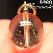 チャーム透明度が高い!AAAAA山梨産水晶ルチル入り水晶(乙女鉱山)国産13mmパワーストーン天然石
