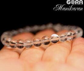心優しい女神「パールヴァティー」のエネルギー AAAマニカラン産ヒマラヤ水晶 6mm 一連ブレスレット 水晶 マニカラン水晶 パワーストーン ブレスレット