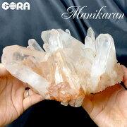【限定1点モノ】クラスター・原石レアなピンク、素晴らしい形状ヒマラヤ水晶(マニカラン産)2260gパワーストーン天然石原石