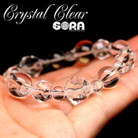 パワーストーン ブレスレット 水晶 店長の気まぐれシリーズ〜Crystal Clear〜 AAAAA水晶(ブラジル産) 天然石