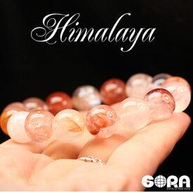 パワーストーン 天然石 ブレスレット 元気・活力祈願 AAAAAレッドヒマラヤ水晶 12mm 一連 ヒマラヤ 水晶