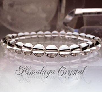 パワーストーン ブレスレット ヒマラヤ水晶 ガネーシュヒマール産 6mm 一連ブレス 天然石 水晶 開運祈願