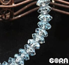 パーフェクトな美しさ!SAロイヤルブルートパーズ (20面カットボタン) 一連ブレスレット パワーストーン 天然石 ブルートパーズ