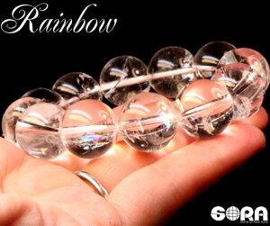 重ねづけでエネルギーの相乗効果祈願 AAAAAヒマラヤアイリス水晶 16mm (天然レインボー) ガネーシュヒマール産 一連ブレスレット パワーストーン 天然石 水晶