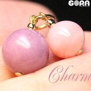 心をまぁるく祈願♪チャームAAAAフォスフォシデライトAAAAピンクオパールパワーストーン天然石
