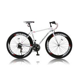 《スポーティなデザインで街乗りや通勤、通学にも最適》CANOVER700x28Cクロスバイク21段変速CAC-025 NYMPHホワイト(25599)