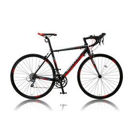《流行のマットブラックフレーム》CANOVER700x23CロードバイクCAR-011 ZENOSレッド/ブラック(25576)